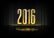 Gold New Year 2016 Luxury Symbol Stock Photo