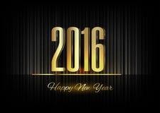 Gold New Year 2016 Luxury Symbol Stock Photo