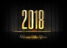 Gold New Year 2018 Luxury Symbol Royalty Free Stock Photos