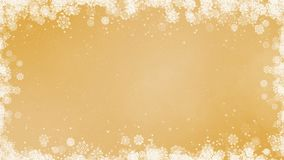 Gold New Year Snowflakes Frame stock video footage