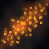 Gold night lights bokeh. Vector background bokeh lights effect Stock Image