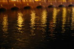 gold night water texture 1, Las Vegas Stock Images