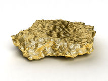 Gold nugget. Isolated on white Royalty Free Stock Image