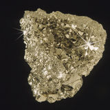Gold nugget. Fool's Gold or Iron Pyrite.  Not real gold Stock Photo