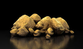 Gold Nugget Collection Royalty Free Stock Images