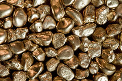 Gold Nuggets Stock Photography