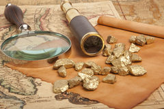 Gold nuggets Stock Image