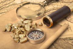 Gold nuggets Stock Images