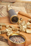Gold nuggets concept Stock Image