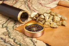 Gold nuggets concept Royalty Free Stock Photography