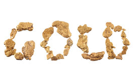 Gold nuggets Royalty Free Stock Photos