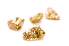 Free Gold Nuggets On White Background. Stock Photography - 40585462