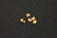 Gold nuggets Royalty Free Stock Photography