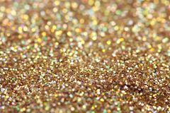 Gold nuggets sparkling carpet. Close-up view, very Stock Image