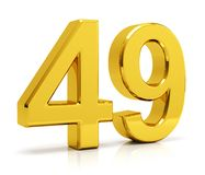 Number 49 royalty free stock image