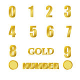 Gold number Stock Photography