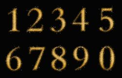 Gold numbers Stock Image