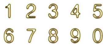 Gold numbers Stock Photography