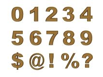 Gold numbers Royalty Free Stock Image