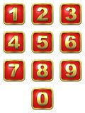 Gold Numbers in Frame Stock Photo