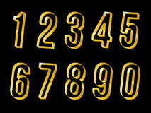 Gold numbers set vector eps 10 design Stock Image