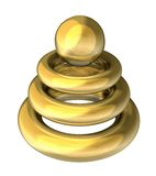 Gold object for modern company Stock Photography