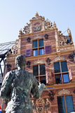 Gold Office in Groningen City, Netherlands. The Goudkantoor or Gold Office is built in 1635 and located on Waagstraat near the Grote Markt (Main Square) in the Stock Images