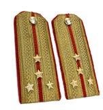 Gold officer epaulets Stock Photo