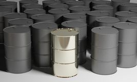 Gold oil barrel Royalty Free Stock Photo