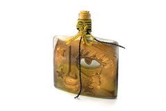 Gold oil lamp. On a white background Royalty Free Stock Photos