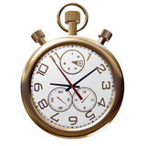 Gold old clock on white Royalty Free Stock Photos