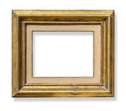 Gold old grunge frame Stock Photos