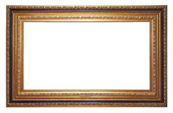 Gold old picture frame Royalty Free Stock Photo