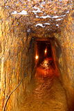 Gold - old roman tunnel in gold mine Rosia Montana, Transylvania Royalty Free Stock Photography