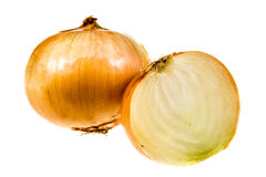 Gold onion vegetable isolated Royalty Free Stock Photos