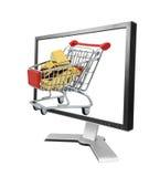 Gold online Lizenzfreies Stockbild