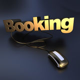 Gold Online booking Royalty Free Stock Image