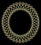 Gold openwork frame Royalty Free Stock Image