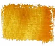 Gold orange painted banner. Handpainted acrylic background royalty free illustration
