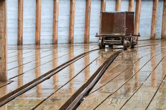 Gold Ore Cart. At the historic Independence Gold Mine in Alaska royalty free stock photo