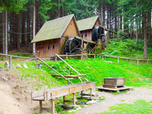 Gold ore mills. Medieval wooden water mills in Zlate Hory, Czech Republic Royalty Free Stock Photography