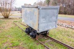 Gold ore mining cart. A gold ore mining cart stock photos