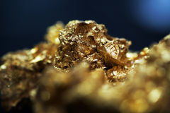 Gold ore. The natural formation of the gold ore is very precious Royalty Free Stock Images
