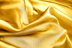 Gold organza. Stock Photo