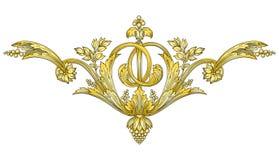 Gold Ornament royalty free illustration