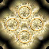 Gold ornament Stock Photography