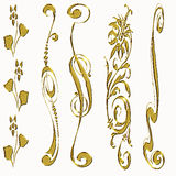 Gold ornament border Royalty Free Stock Images