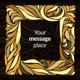 Gold ornament  frame Royalty Free Stock Image