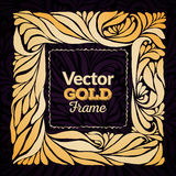 Gold ornament  frame Royalty Free Stock Photography