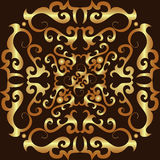 Gold ornament pattern Royalty Free Stock Photo